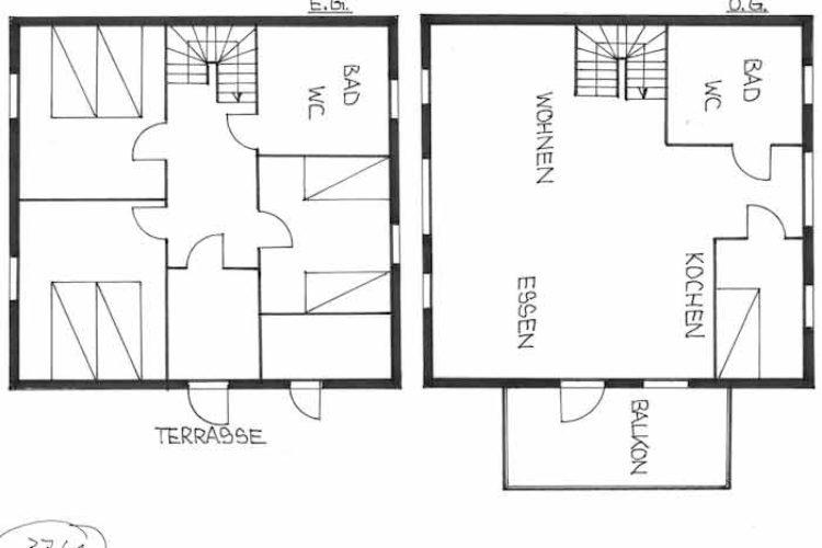 Das Ferienhaus hat zwei Etagen und bietet Platz für bis zu sechs Personen.