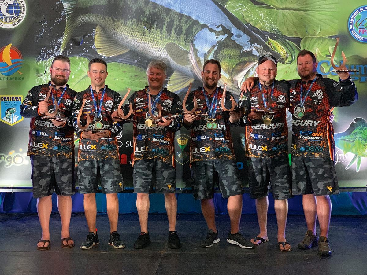 Das deutsche Schwarzbarsch-Team holte Bronze. Nur Südafrika (Gold) und Australien (Silber) waren erfolgreicher.