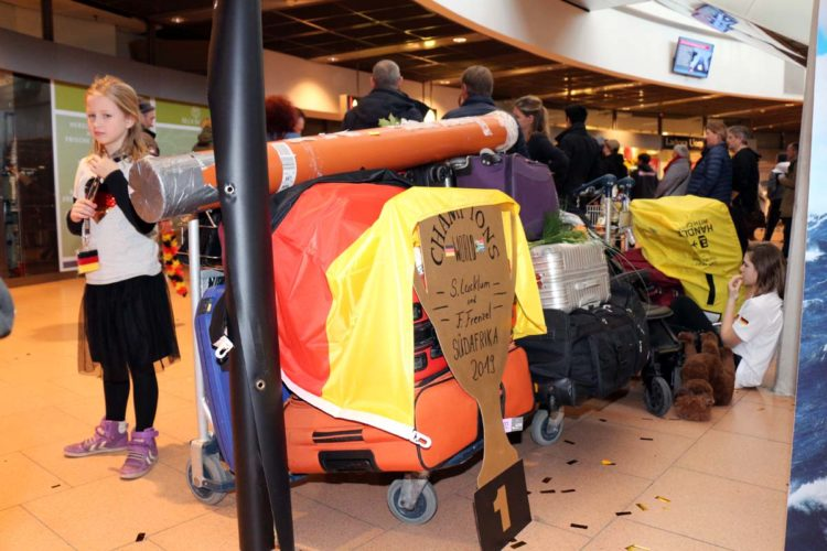 Das Reisegepäck der frisch gebackenen Weltmeister.