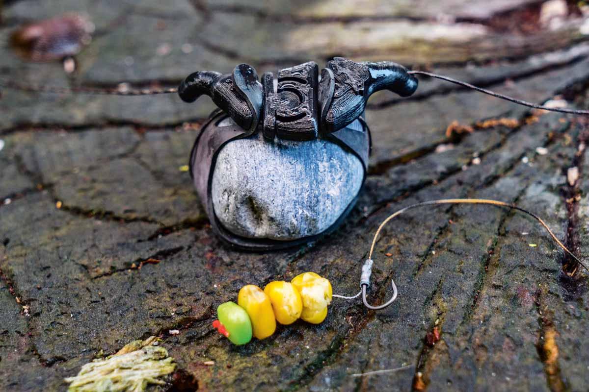 So sieht die fertige Fishstone-Montage zum bleifrei angeln aus. Foto: AngelWoche/Marvin Heins