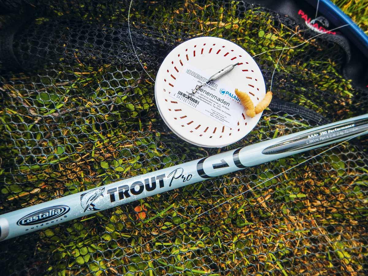 Die Wurfklasse der Forellenrute wird auf dem Blank angegeben. Foto: Blinker/Carsten Neumann