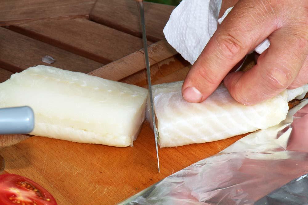 Filets je nach Größe entsprechend portionieren...