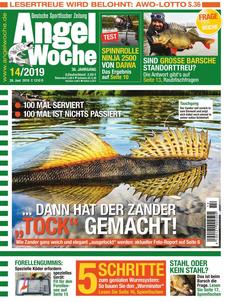AngelWoche Ausgabe 14/2019 mit dem Thema Zanderangeln.