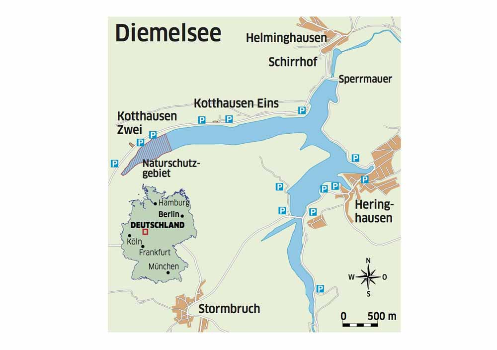 Gewässerkarte Diemelsee