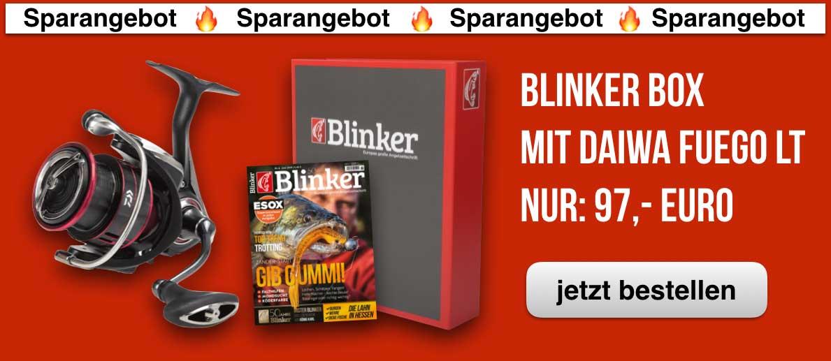 Die Daiwa Fuego LT Spinnrolle im Angebot auf Amazon inkl. BLINKER-Box