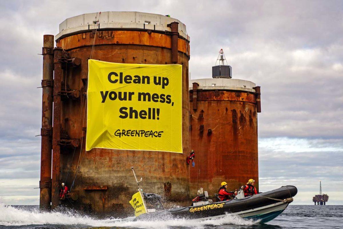 Greenpeace: Shell will alte Plattformen mit 11.000 Tonnen Öl in der Nordsee verrotten lassen