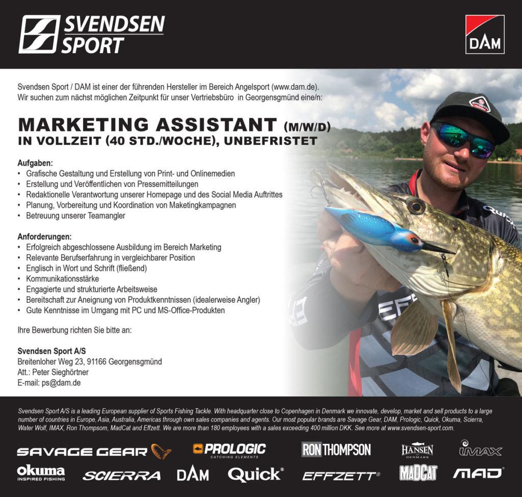 DAM Marketing Assistant gesucht – das ist deine Chance auf einen spannenden Job in der Angelbranche! Foto: DAM