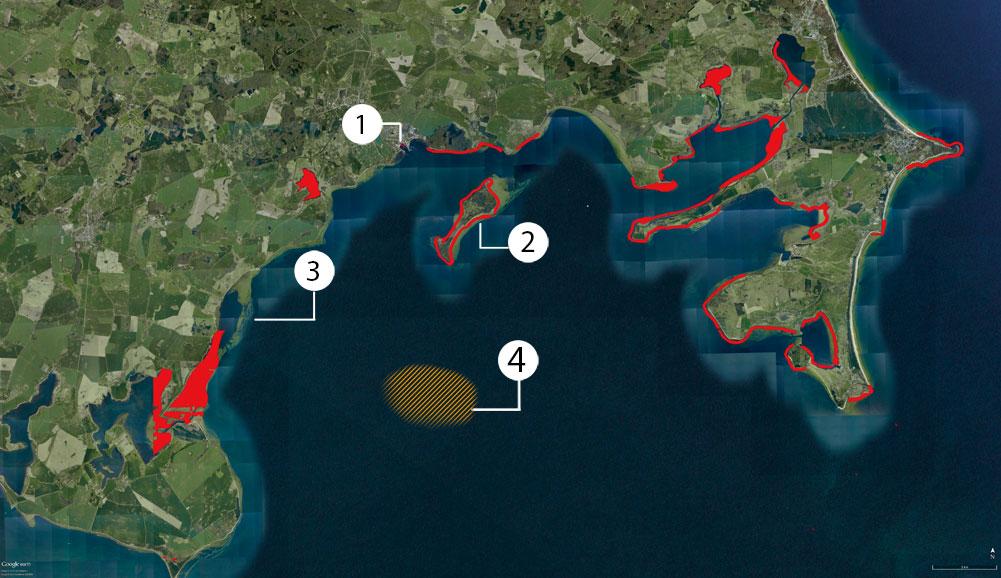 Karte Greifswalder Bodden Befischungsverbote: für Details bitte vor Ort nachfragen.