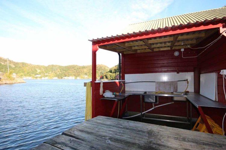 Bei dieser tollen Lage direkt am Wasser macht sogar das Versorgen des Fanges Spaß! Foto: Borks