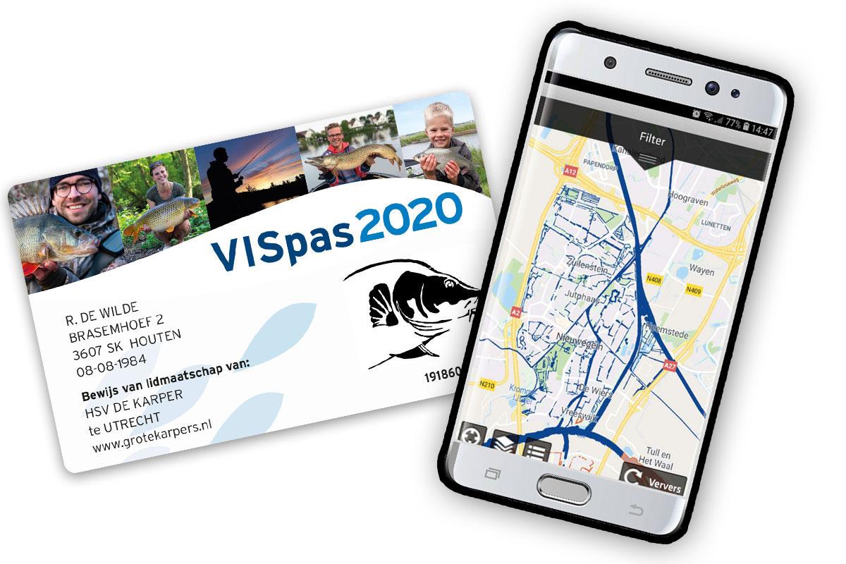 So sieht der Vispas 2020 aus. Mit ihm könnt ihr zahlreiche Gewässer in ganz Holland befischen! Wo genau Ihr angeln dürft, erfahrt ihr in der Visplanner-App. Foto: Sportvisserij Nederland