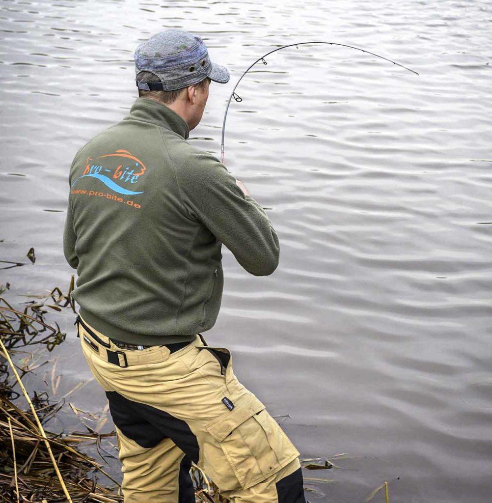 An einer Rute mit 7 Gramm Wurfgewicht wird selbst der Drill einer Portionsforelle zu einem Erlebnis. Foto: W. Krause