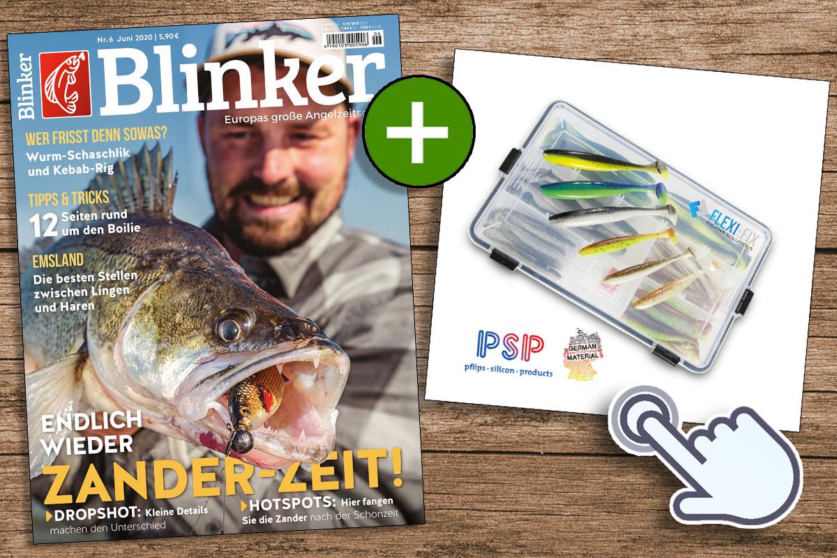 Ein Jahr lang BLINKER lesen – und die Flexifix-Köderbox gibt's als Prämie dazu. Das alles zum absoluten Vorteilspreis bei uns im Shop! Bild: BLINKER