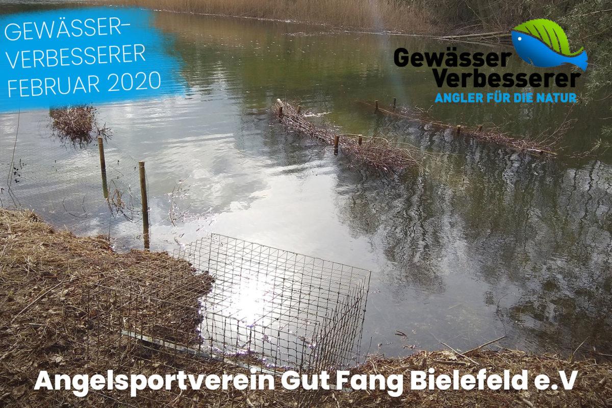 """Der Angelsportverein Gut Fang Bielefeld e.V. hat begonnen, ein altes """"Baggerloch"""" zu renaturieren. Foto: Gut Fang Bielefeld e.V."""