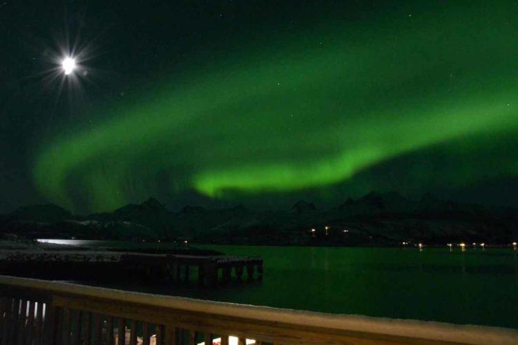 Wer abseits der Hauptsaison im Winter auf die Lofoten reist, sieht mit etwas Glück auch die Nordlichter. Foto: Borks
