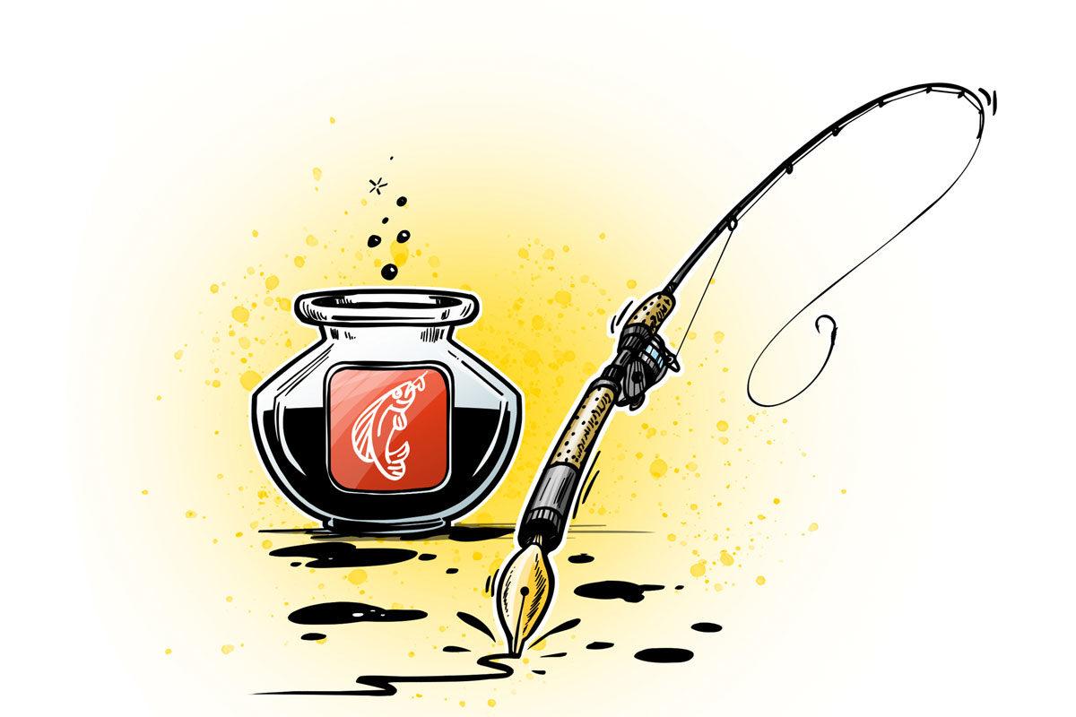 Schicke uns Deinen Artikel und werde BLINKER-Edelfeder! Illustration: B. Gierth