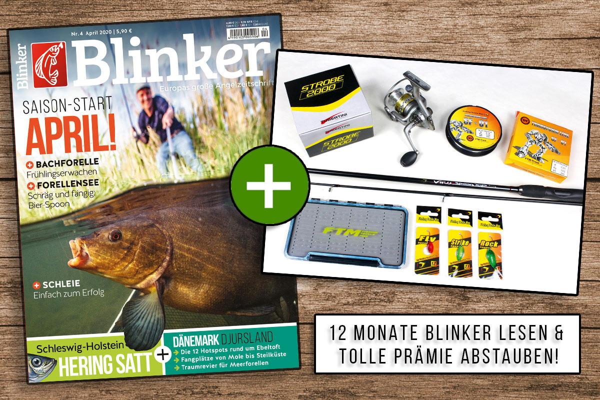Jetzt Blinker abonnieren und das FTM-Spoonset als Prämie erhalten – damit kann der Spaß am Forellensee gleich losgehen! Bild: BLINKER / Fishing Tackle Max