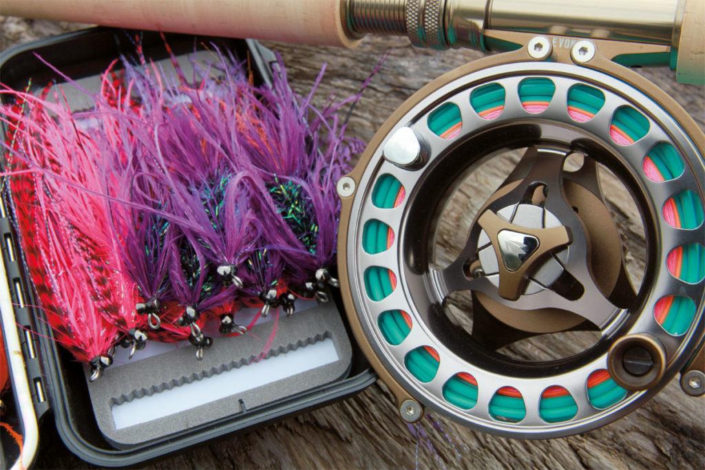 """Intruder-Fliegen in lila, pink und blau – sie halfen dem """"Eindringling"""" Michael trotz des Vermerks SSSS bei der Einreise. Foto: M. Werner"""
