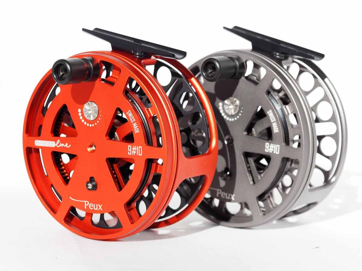 Die PEUX Speedline gibt es in den Farben Rot und Schwarz. Foto: PEUX Flyfishing