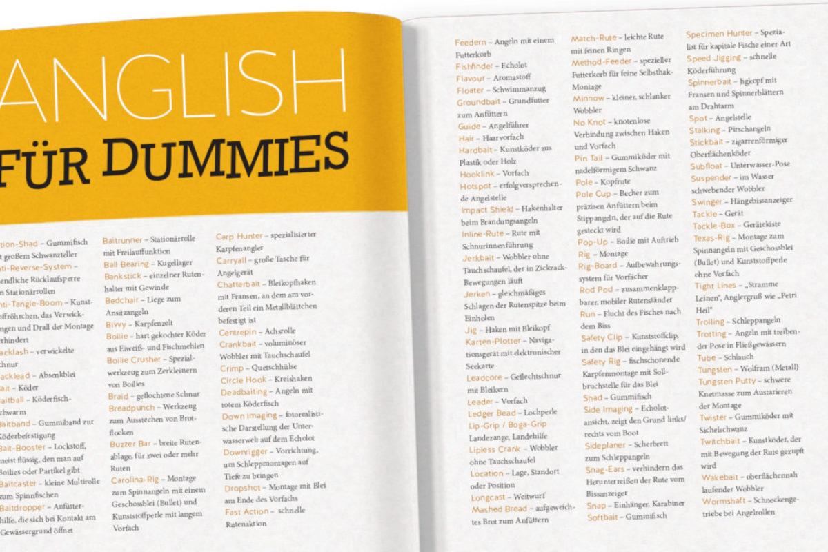 Manchmal hat man den Eindruck, erst Englisch lernen zu müssen, um überhaupt mit dem Angeln anfangen zu können. Doch es gibt gute deutsche Übersetzungen. Bild: BLINKER