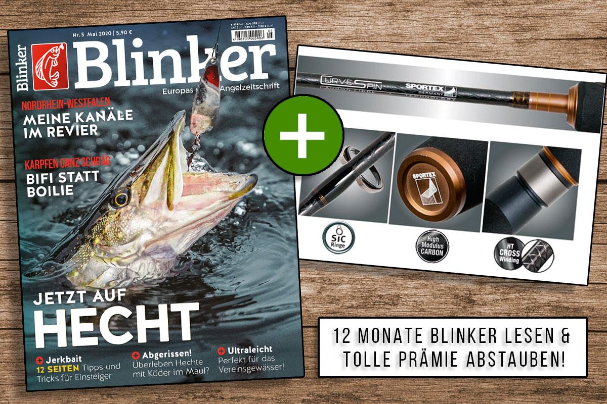 Jetzt Blinker abonnieren und die Sportex Curve Spin zum absoluten Vorteilspreis erhalten – nur bei uns im Shop! Bild: BLINKER