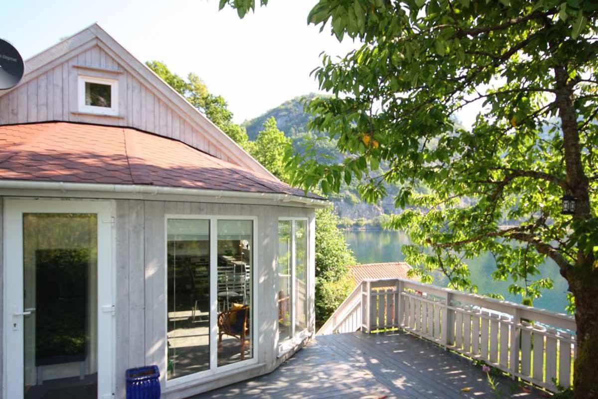 Genießen Sie Ihren Angelurlaub am Lenefjord in diesem gemütlichen Ferienhaus von Borks! Foto: Borks