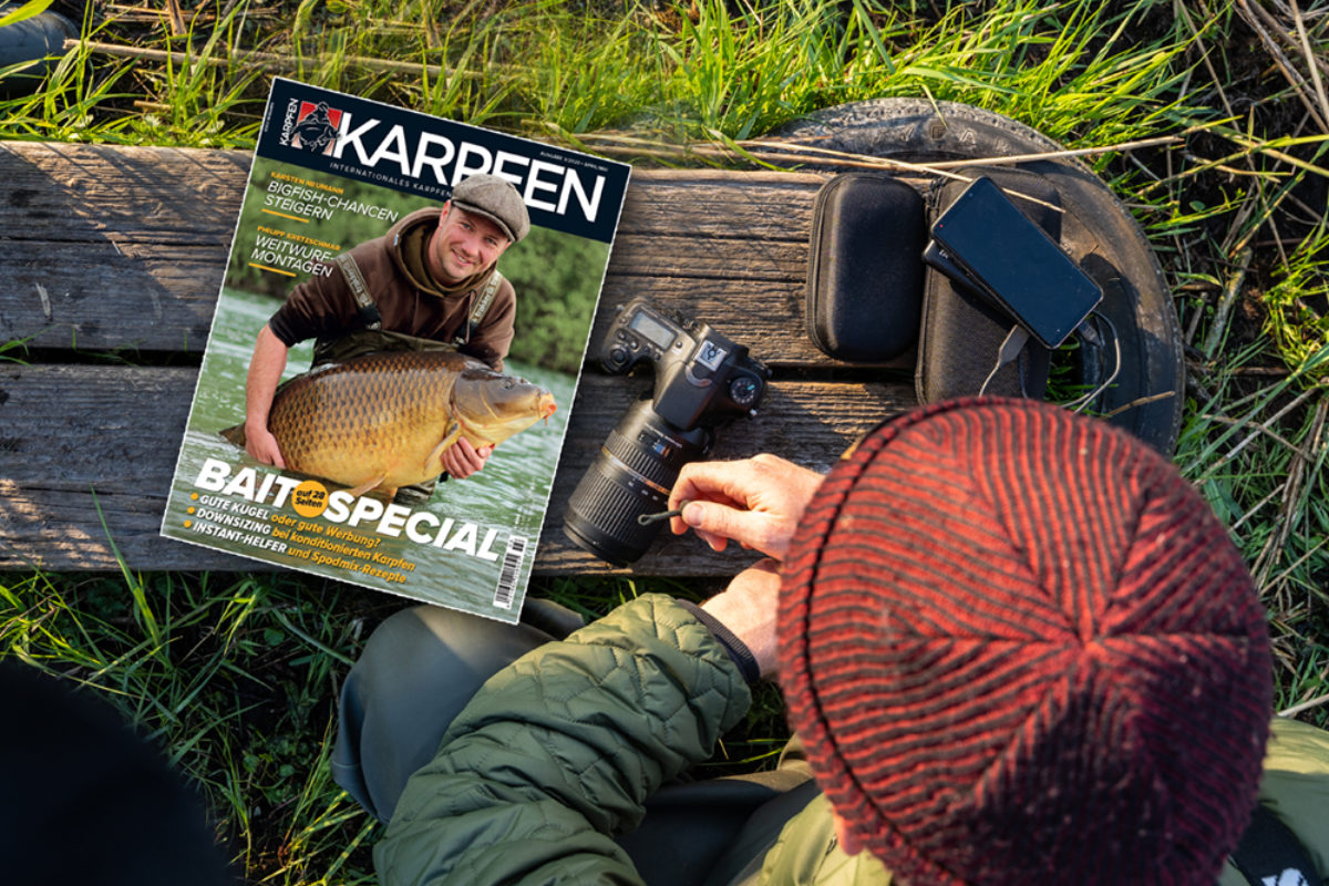 Ideale Begleitung am Wasser: Der KARPFEN 03/2020 glänzt mit neuem Papier, Layout und viel, viel anglerischer Praxis.