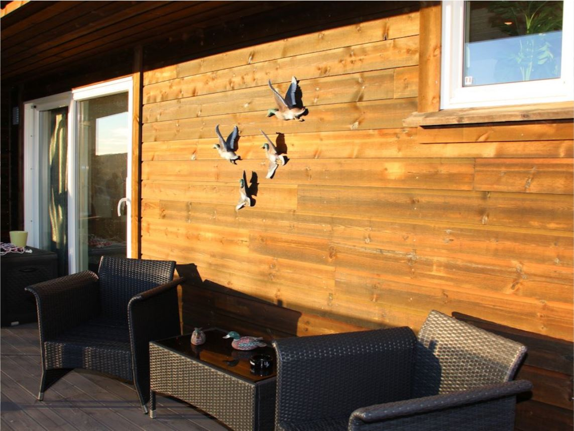 Selbst von der Terrasse des Ferienhauses können Sie die wunderschöne Landschaft und Küste Südnorwegens genießen!
