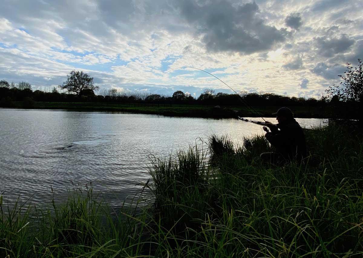 Der Graskarpfen auf Mais kämpfte im Drill mindestens genau so entschlossen wie ein Lachs an der Fliegenrute. Foto: K. Werner