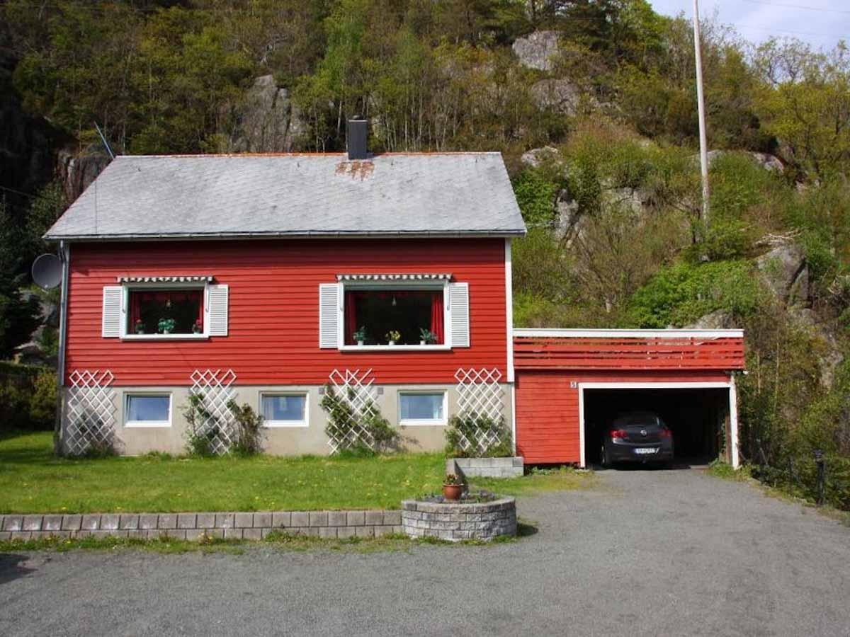 Das Ferienhaus von Borks ist der perfekte Startpunkt für das Angeln im Flekkefjord gemeinsam mit Freunden! Foto: Borks