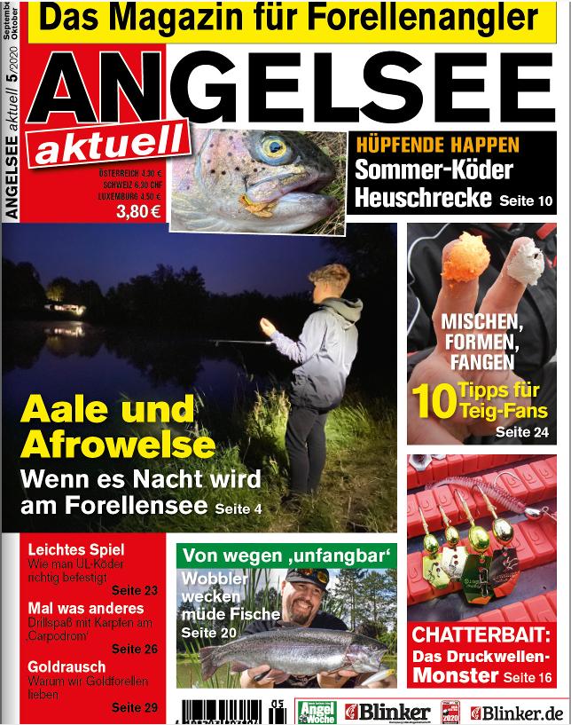 In der aktuellen Ausgabe von ANGELSEE aktuell lesen Sie von Exoten am Forellensee – unter anderem geht es auch um den Afrowels!