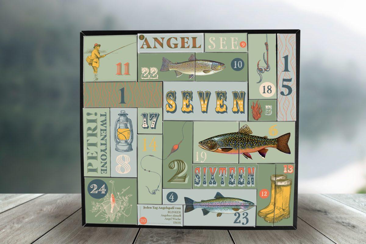 Dieser Angler Adventskalender ist voll und ganz mit Ködern und Zubehör für den Angelsee befüllt – sogar eine Stationärrolle ist enthalten!