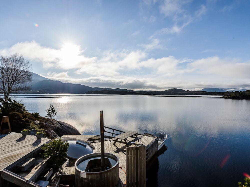 Direkt vor der Haustür wartet der Fjord darauf, von Ihnen befischt zu werden. Foto: BORKS