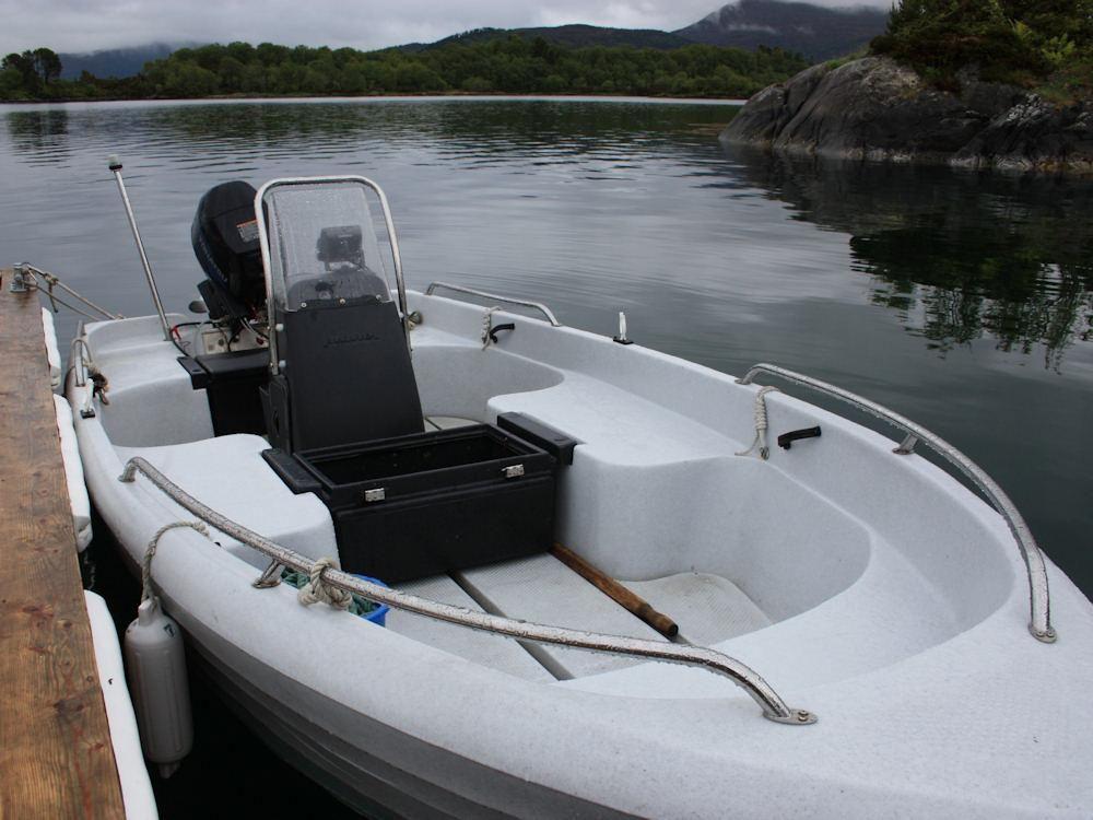 Mit dem 20 PS starken Angelboot geht es hinaus aufs Wasser. Bei Bedarf können Sie auch ein zusätzliches Boot vorbestellen. Foto: BORKS