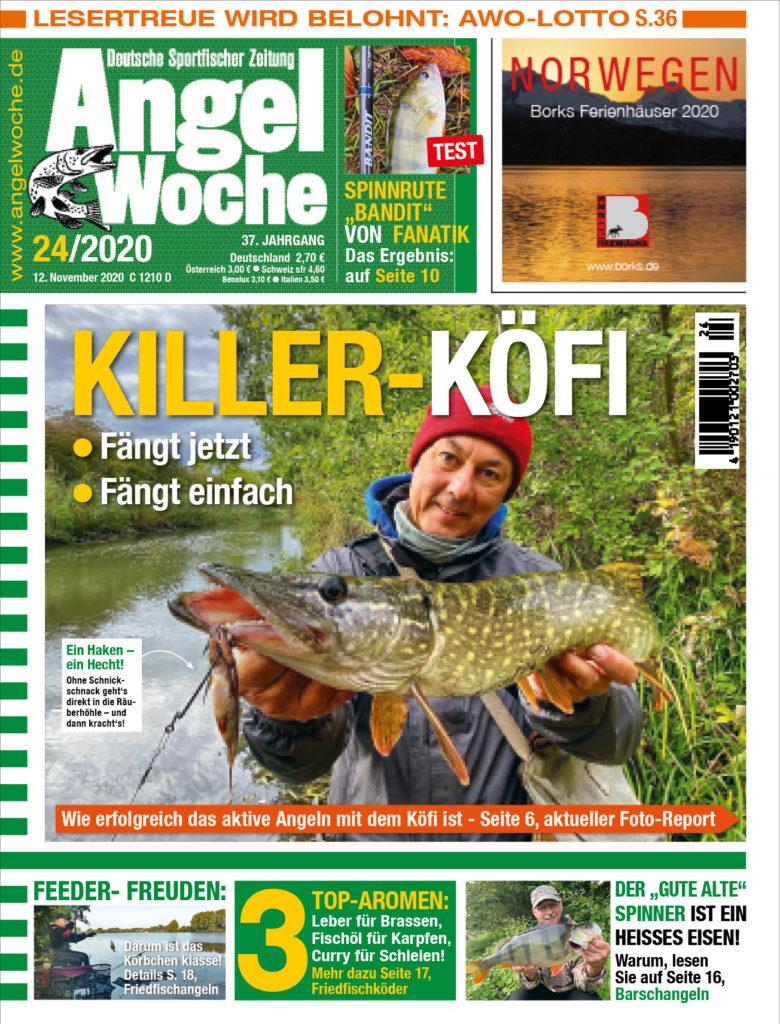 Die aktuelle AngelWoche 24 mit dem Foto-Report Killer-Köfi auf Hecht und vielen weiteren spannenden Themen!
