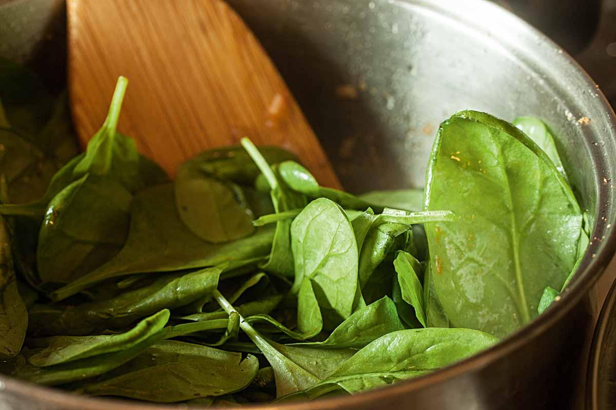 Verwendet für das Gericht am besten frischen Blattspinat. Foto: A. Jagiello