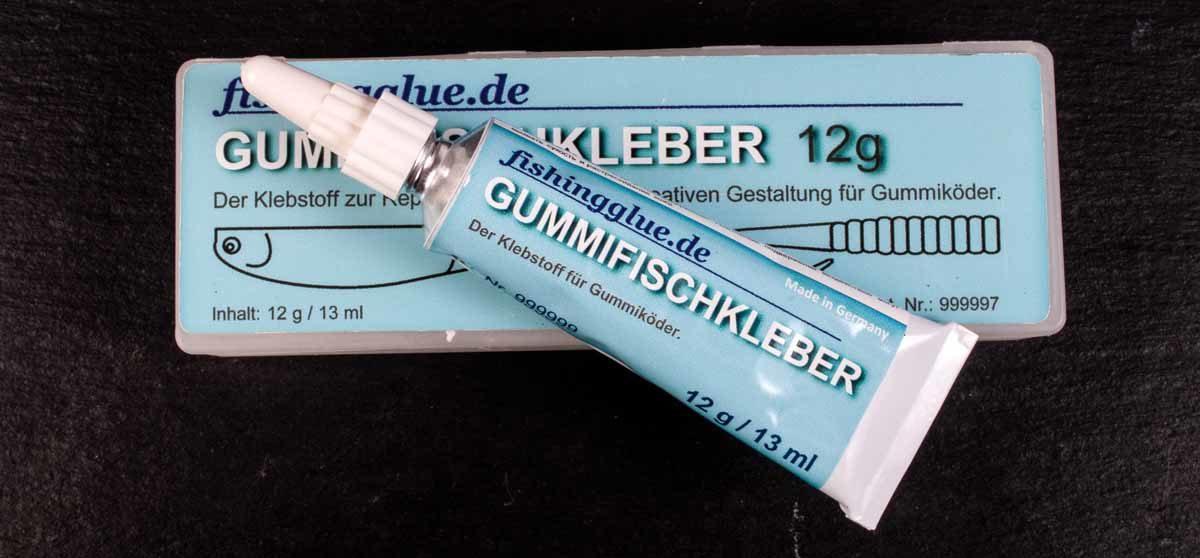 """OP erfolgreich! Mit Gummifischkleber erleben auch """"verletzte"""" Köder noch einen weiteren Angeltag. Foto: R. Korn"""