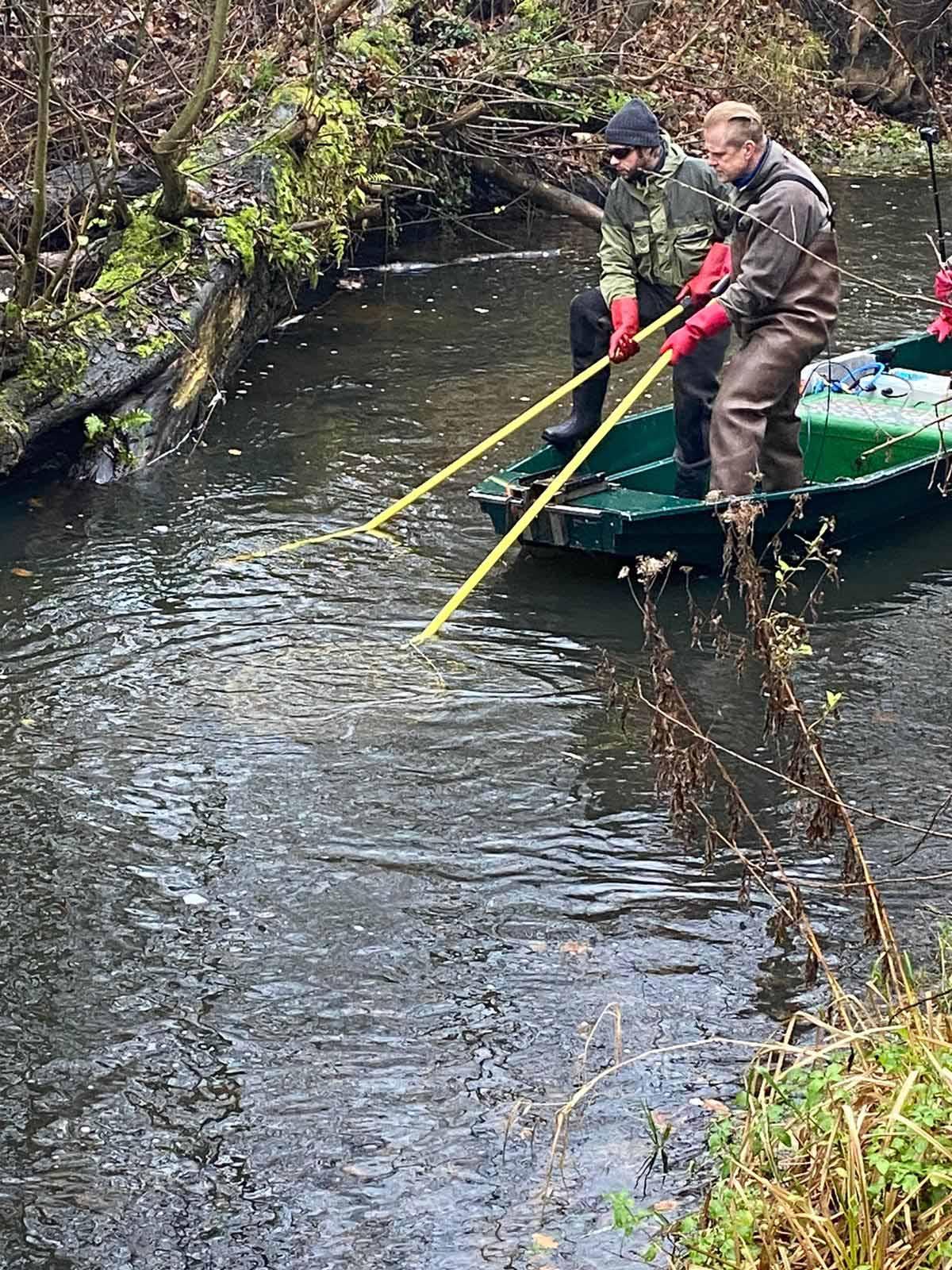 """Der Anglerverein """"Alster"""" führt im Gewässer regelmäßig Bestandskontrollen durch. Foto: AV Alster"""
