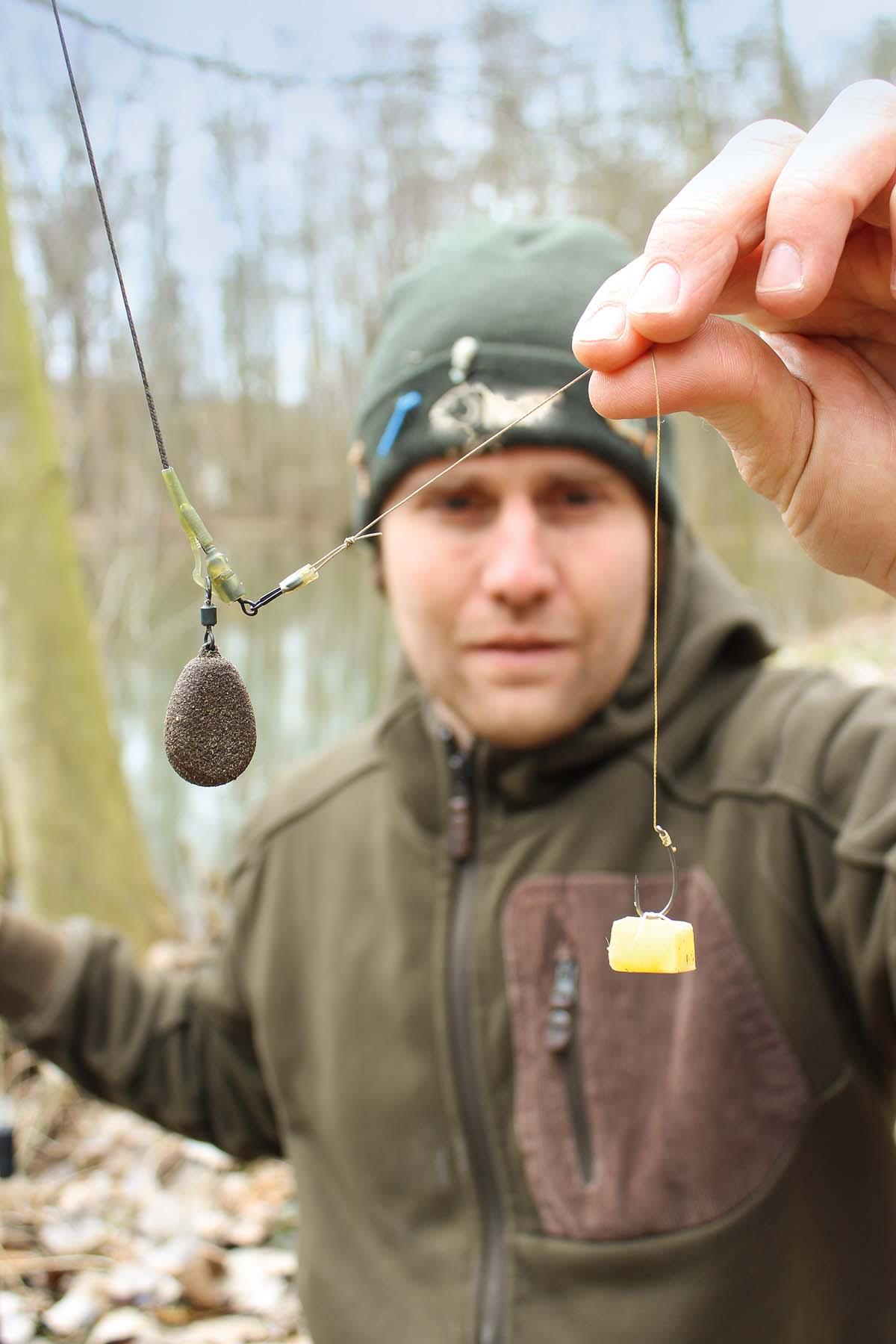 Das Kartoffel-Rig eine gewöhnliche Festblei- oder wahlweise auch Laufblei-Montage.
