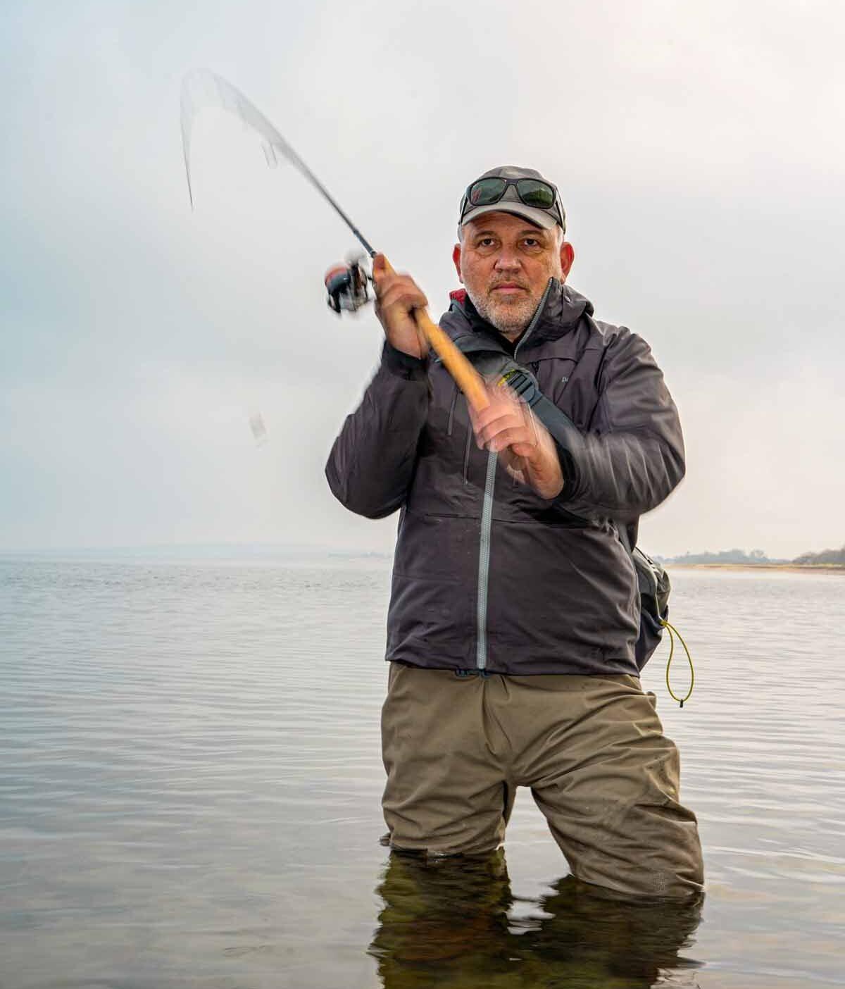 Mit einem dünnen Geflecht erreicht ein geübter Werfer mit der TECoast locker 70 Meter. Manchmal ist das an der Küste nötig! Foto: F. Pippardt