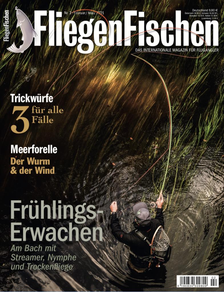 In der aktuellen FliegenFischen 02/21 lesen Sie den vollständigen Artikel mit weiteren Tipps zum Meerforellenangeln im Frühjahr.
