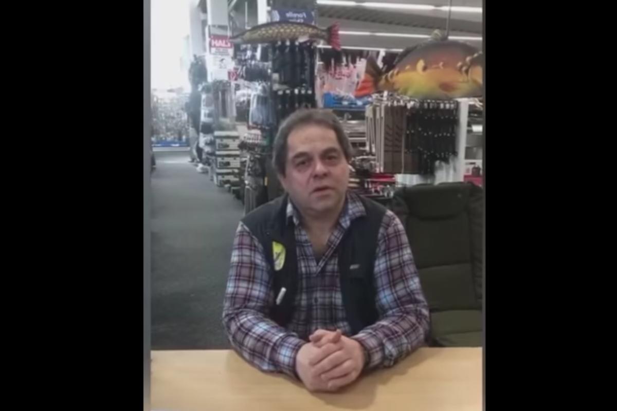 Sehen Sie im Video: Angelhändler Reinhold Meyer von Fisherman's World kann nicht verstehen, warum sein Geschäft trotz aller Maßnahmen geschlossen bleiben muss. Bild: Screenshot