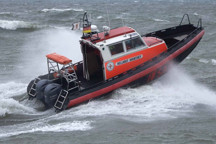 Tödlicher Unfall auf der Schlei: Das Seenotettungsboot Hellmut Manthey brachte die Retter schnell zum Ort des Unglücks. Foto: DGzRS / YPS - Peter Neumann