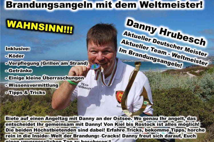 Brandungs-Weltmeister Danny Hrubesch bietet einen gemeinsamen Tag an der Ostseeküste. Foto: CaJo Angelschule