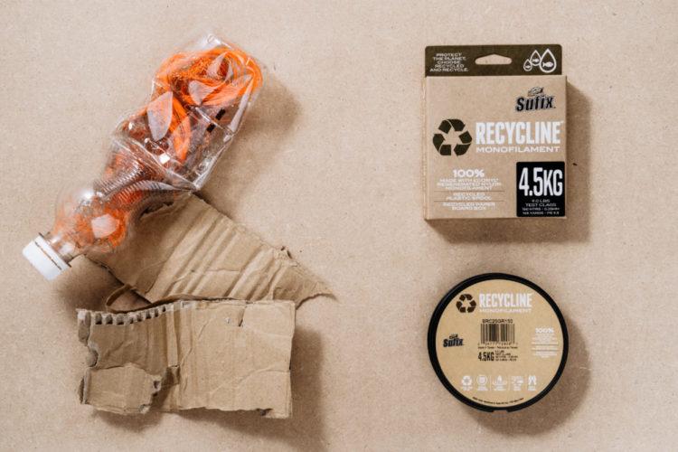 Die Sufix Recycline ist eine monofile Schnur, die zu 100% aus wiederverwertetem Material besteht. Rapala VMC stellte das neue Produkt vor kurzem vor; weitere sollen in Zukunft folgen. Foto: Rapala VMC