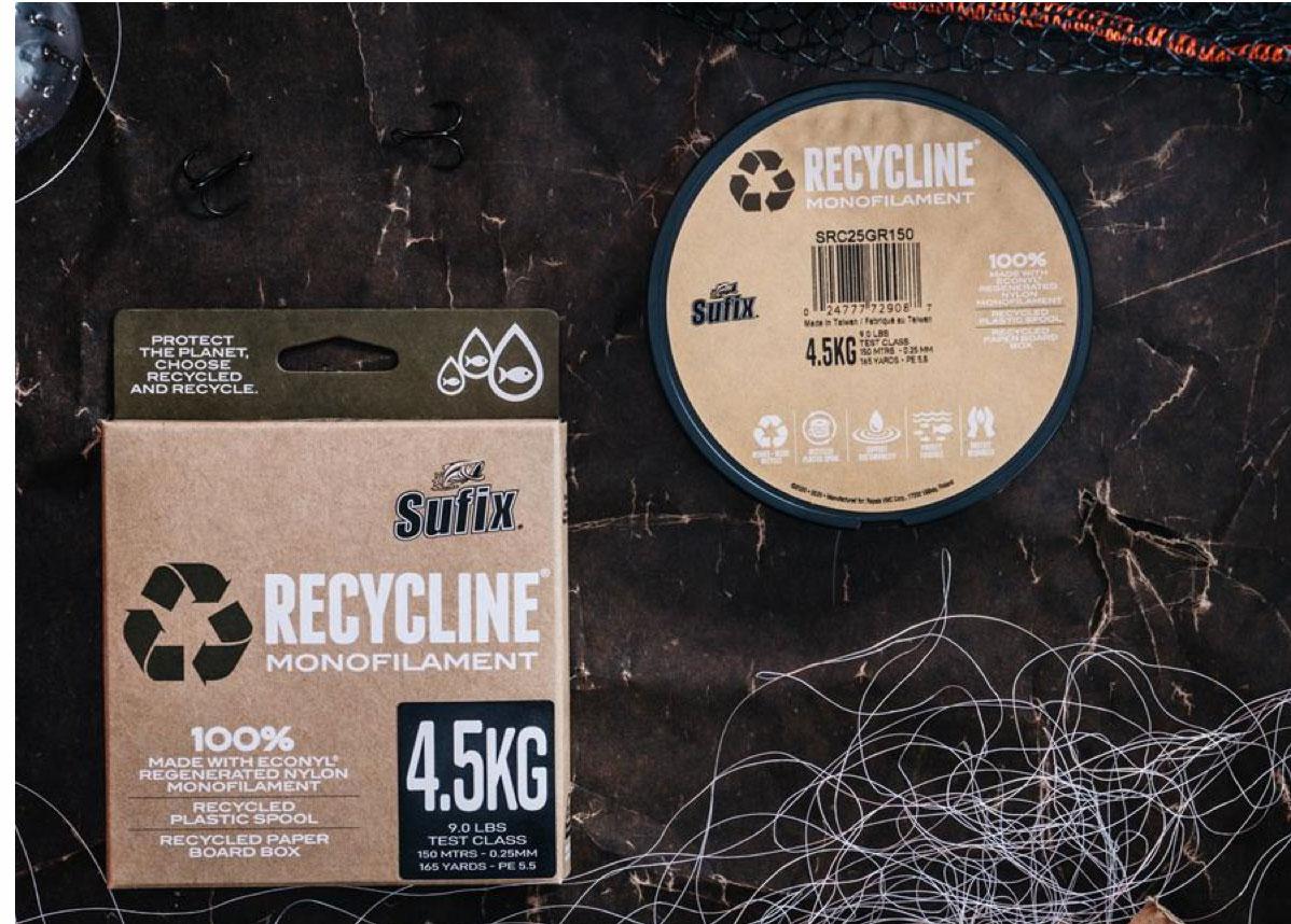 """Bis zu 4,5 Kilo Tragkraft soll die Angelschnur aus Müll besitzen. Erreicht wird dies durch """"Econyl"""" genannte Fasern der italienischen Firma Aquafil. Sie gewinnt das Material aus z. B. alten Fischernetzen aus dem Meer. Foto: Rapala VMC"""