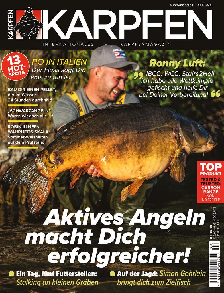 Der neue KARPFEN 03/2021 – ab 28. April im Handel und schon jetzt online erhältlich! Bild: KARPFEN