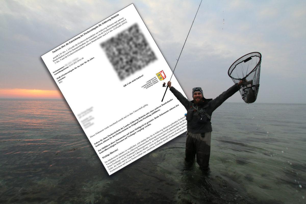 Jeder muss in Schleswig-Holstein eine Fischereiabgabe in Höhe von 10 Euro pro Jahr zahlen.