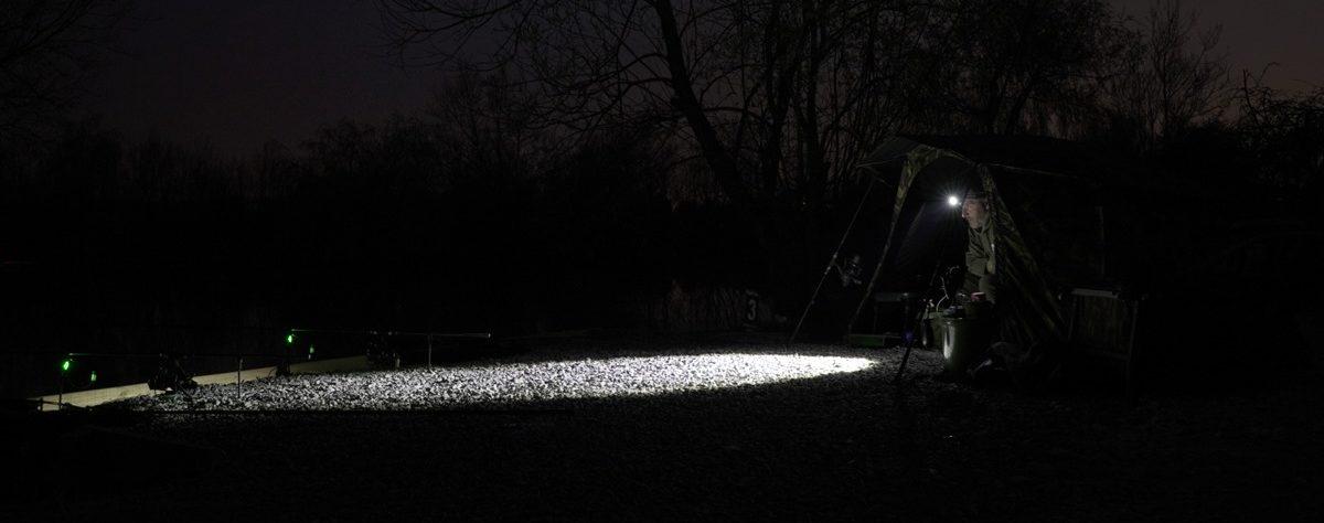 """Das """"normale"""" Licht der H10 lässt sich individuell einstellen und dimmen. Der Lichtkegel ist dabei scharf definiert. Foto: New Direction Tackle"""