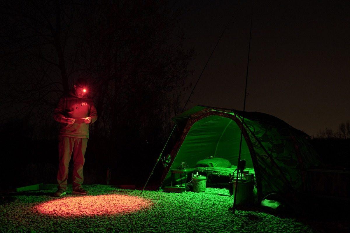 Mit der richtigen Kopflampe zum Angeln kann die Nacht beginnen! Die H10 von New Direction Tackle bringt mehr als nur Licht ins Dunkel. Foto: New Direction Tackle
