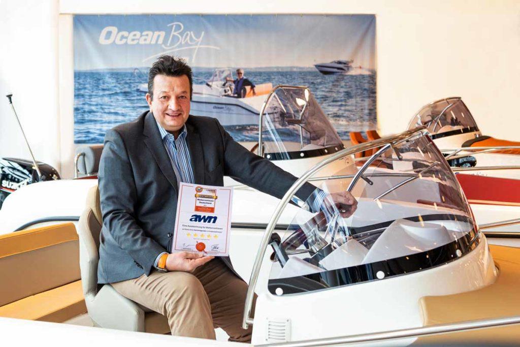 Christoph Steinkuhl, Geschäftsführer von AWN, ist stolz auf das Markenvertrauen, das den Booten seines Unternehmens entgegengebracht wird. Foto: AWN